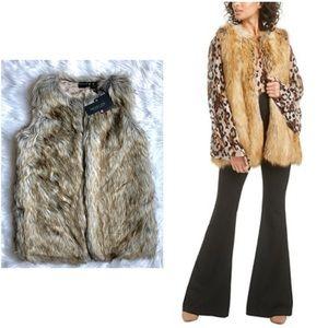 Rachel Zoe NWT Bobine Faux Fur Vest Medium